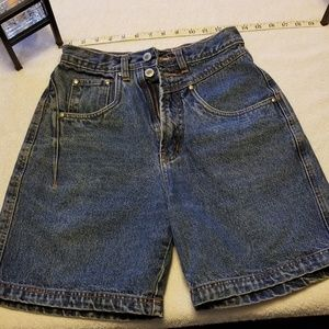 Vintage anchor blue high waisted Jean shorts